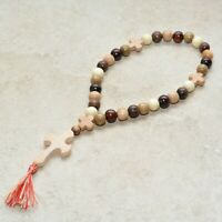 Rosary Beads Orthodox Christian Cross Crucifix Religious Prayer juniper Wood