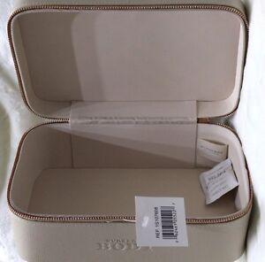 Burberry Body Tender Cosmetic Handbag Case Vanity Box Faux Leather Pink/Biege