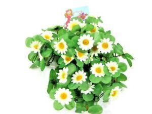 Blumen Girlande Sonnenblume Weiß Deko für Lenker Tasche/Korb Fahrraddeko 03953 B