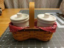 Longaberger Good Ol' Summertime Shaker Taker Basket with Small Crocks