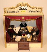 2000 Steiff Club Millennium Dream Band Teddy Bear Set 038808 #1609/2000 in Box