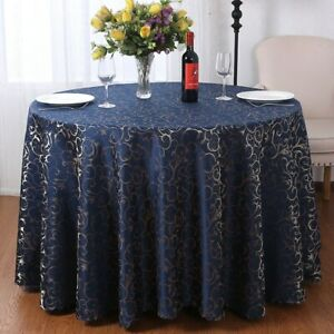6-color Tablecloth Flowers  Hotel Banquet Round Table Oil-resistant Tablecloth