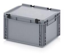 Eurobehälter 40x30x23,5 mit Deckel Stapelbehälter*Lagerbox*Stapelbox*400x300x235