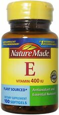 Nature Made Vitamin E 400 I.U. Softgels 100 ea (Pack of 2)