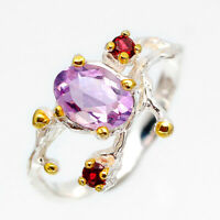 New Arrived Natural Amethyst Gemstone .925 Sterling Silver Ring / RVS220
