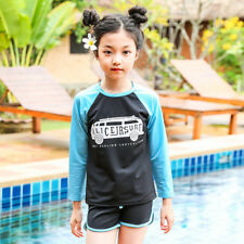 Color Block Printing 2Pcs Swimsuit For Kids - Blue (SPG011772BU)