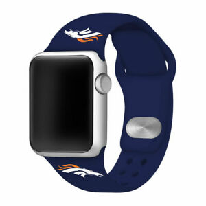 Denver Broncos Silicone Sport Band Compatible With The Apple Watch