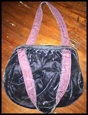 Vintage Navy Blue Small Evening Bag with Double Straps and Metal Clasp