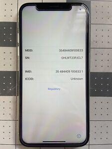 Apple iPhone X - 64GB - White (Unlocked) (Read Description)