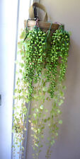 Set of 5 Artificial Plastic Vines Small Leaf Hanging and Pearl Bean Bunch