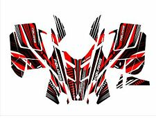 POLARIS RUSH PRO RMK  ASSAULT 120 136 144 155 hood wrap kit DECAL race red black