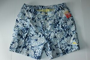 Tommy Bahama Swim Suit Trunks Turtle Cove Bering Blue Large L New 34-36 Waist