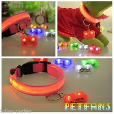 PA Hot Bone Glow Light Blinking LED Tags Collar Pendant Pet Dog Puppy
