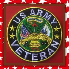 🇨🇦US ARMY VETERAN MC Patch Embroidered Sew On/stick On Clothing/new