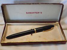 VINTAGE BOXED SHEAFFER'S MADE IN AUSTRALIA FOUNTAIN PEN WITH 14CT GOLD NIB IN OR