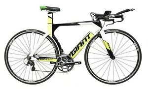 Giant Trinity Advanced 2x 11s Carbon Triathlon TT Bike XS 46cm Shimano 105 2017