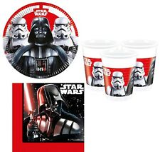 Boys Girls Birthday Party Star Wars Darth Vader 36pc Tableware Decoration Set
