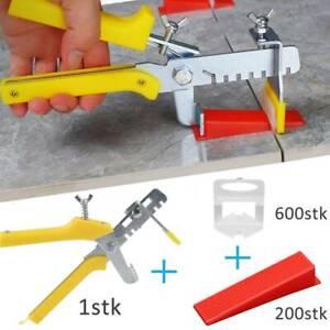 801-tlg Fliesen Nivelliersystem Verlegehilfe 600 Laschen+200 Keile +Zange