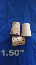 CORK stopper plug round tapered style crafts fishing lab wine all natural*1-1/2*