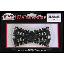 173 Atlas section rail croisement 30° voie train HO 1/87