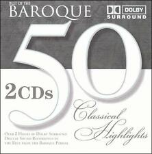 Various Artists : Best of Baroque : 50 Classical Highlight CD
