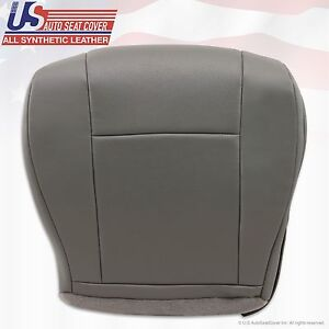 2013 2014 Ford E350 E450 Van Driver Side Bottom Perforated Vinyl Seat Cover Gray