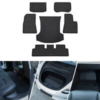 All Weather Floor Mats & Front Rear Trunk Cargo Tray Fit 2017-2020 Tesla Model 3