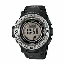 Casio Pro Trek Men's Tough Solar Atomic Black Resin Band 56mm Watch PRW3500-1