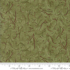 MODA Fabric ~ COUNTRY ROAD ~ by Holly Taylor (6663 13) Moss Green - by 1/2 yard