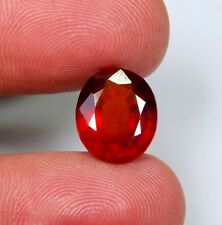 05 CT NATURAL RED HESSONITE GARNET OVAL CUT CABOCHON RING SIZE TOP GEMSTONE A201
