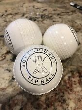 Wind Cricket Ball Light Synthetic Poly Soft Ball 3Pc pack! (White) Brand New