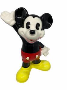 "Disney Mickey Mouse Ceramic Figurine 4"" Tall Vintage"