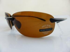Serengeti Sunglasses NUVINO Shiny Black Polarised PhD Drivers Photochromic Lens