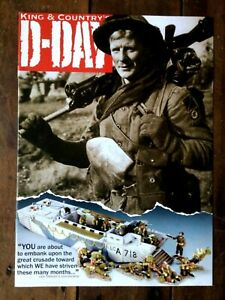King & Country toy soldier brochure. D Day WW2 British US & French 2009