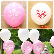 200 x White & Pink Heart Pearl Latex Balloons Romantic Wedding Party Decoration
