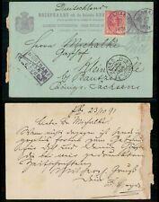 Mayfairstamps Suriname 1891 Paramaribo Uprated Stationery Card to Saxony Germany