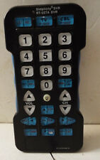 (J172) Simplicity RT- U27A DVR Universal Remote Control works good