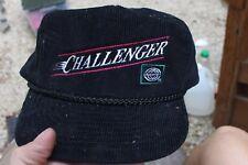 Can Am Challenger Corduroy Snapback Hat Embroidered Snowmobile Dealer Vintage