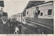 Postcard Elsternwick Express Disaster at Richmond Railway Station 1910 wreck
