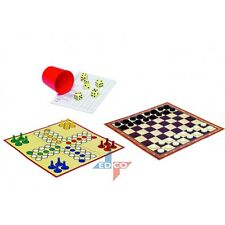 2 IN 1 LUDO & DRAUGHT CHECKER TRAVEL GAME SET 99 COUNTING GAMES COLLECTION BOX
