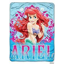 "The Little Mermaid Ariel Coral Reef Micro Raschel Blanket Throw 46"" x 60"" NEW"