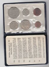 1969 AUSTRALIA SET OF 6 COINS IN NEAR MINT CONDITION + A BLUE WALLET