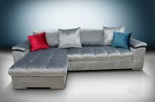 silver gloss crushed velvet corner sofa bed mike large hand