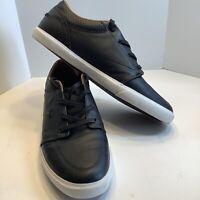 Men's Lacoste Esparre Leather Shoes Sneakers Size 10.5M Black, Excellent