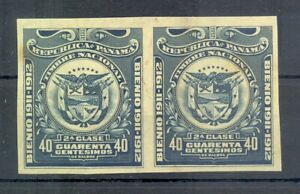 PANAMA 1911/12 PAIR 40 ct. IMPERF PROOFS ALMOST VF (*)