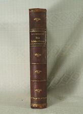 antique old Leather book decorative binding Danish language Copenhagen Denmark