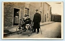 More details for postcard thomas clitheroe disabled man hand powered tricycle - social history 2