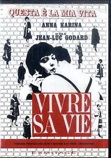 VIVRE SA VIE di Jean Luc Godard con Anna Karina DVD Ottime Condizioni