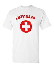 Lifeguard #2 T-shirt Red Gray White Tee Pool Staff Lifesaver Halloween Costume