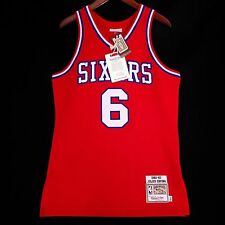 100% Authentic Julius Erving Dr J Mitchell & Ness Sixers Jersey Size 40 M